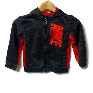 Nike Gray & Red Track Jacket Boy's 7